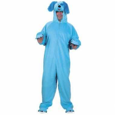 Blauw honden carnavalskleding volwassenen2020