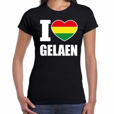 Carnaval i love gelaen t shirt zwart dames2020