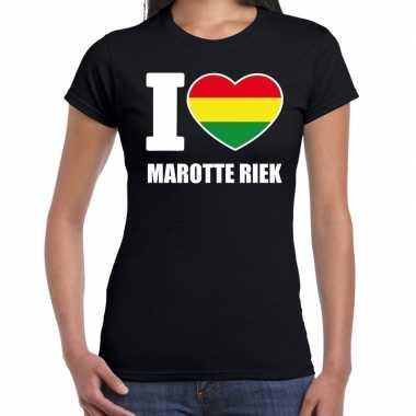 Carnaval i love marotte riek t shirt zwart dames2020
