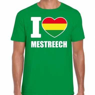 Carnaval i love mestreech t shirt groen heren2020