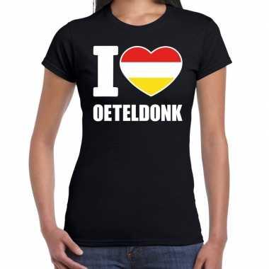 Carnaval i love oeteldonk t shirt zwart dames2020