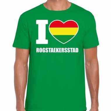 Carnaval i love rogstaekersstad t shirt groen heren2020