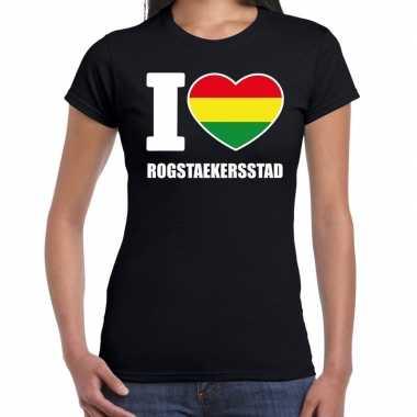 Carnaval i love rogstaekersstad t shirt zwart dames2020