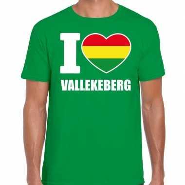 Carnaval i love vallekeberg t shirt groen heren2020