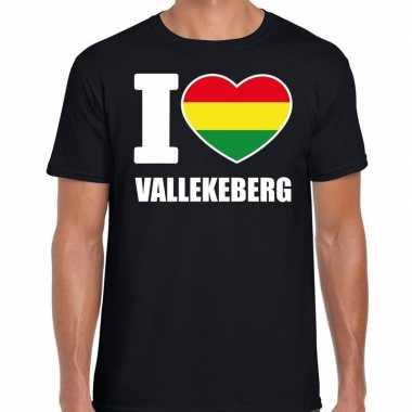 Carnaval i love vallekeberg t shirt zwart heren2020