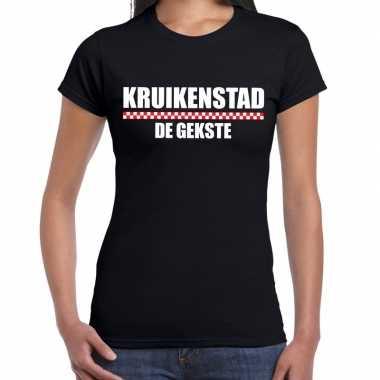 Carnaval kruikenstad gekste t shirt zwart dames2020