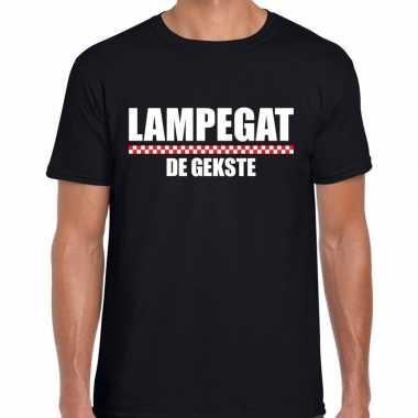 Carnaval lampegat gekste t shirt zwart heren2020