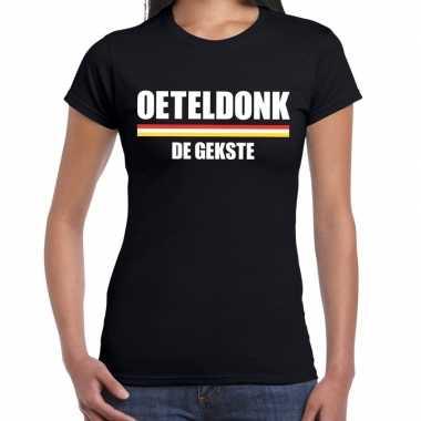 Carnaval oeteldonk gekste t shirt zwart dames2020