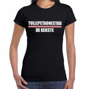 Carnaval tullepetaonestad gekste t shirt zwart dames2020