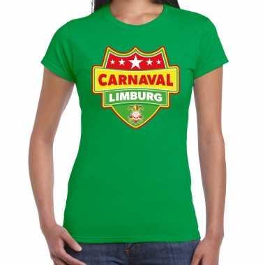Carnaval verkleed t shirt limburg groen dames2020