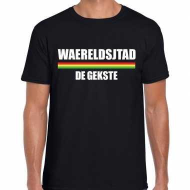 Carnaval waereldsjtad gekste t shirt zwart heren2020