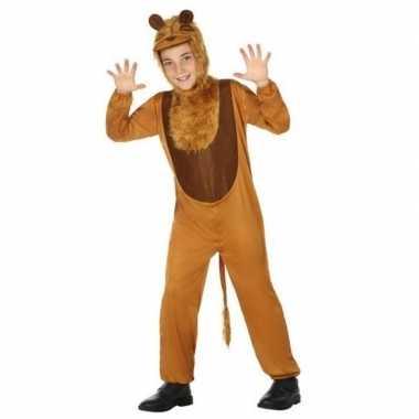 Dierencarnavalskleding leeuw/leeuwen verkleed carnavalskleding kinder