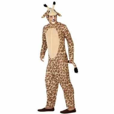 Dierencarnavalskleding verkleed carnavalskleding giraffe volwassenen2