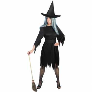 Enge heksen carnavalskleding zwart2020