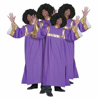 Gospel zanger carnavalskleding heren2020