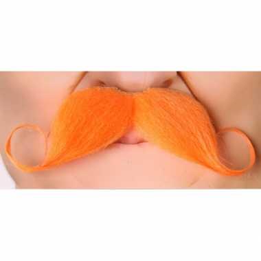 Grote koningsdag carnavalskleding accessoire oranje snor2020