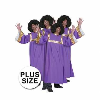 Grote maten gospel zanger carnavalskleding2020