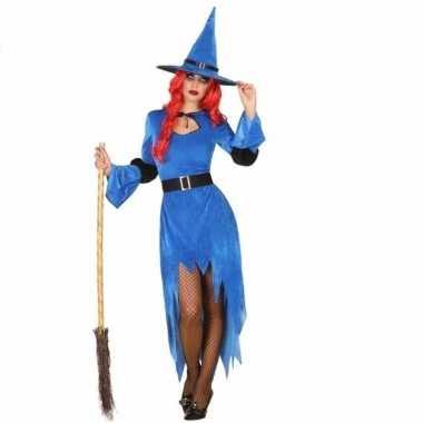 Halloween blauwe heksen carnavalskleding dames2020