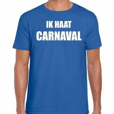 Ik haat carnaval verkleed t shirt / carnavalskleding blauw heren2020