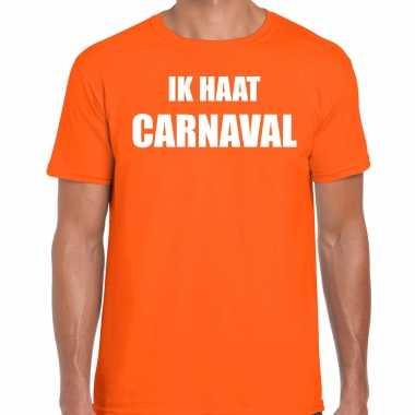 Ik haat carnaval verkleed t shirt / carnavalskleding oranje heren2020