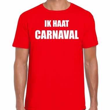 Ik haat carnaval verkleed t shirt / carnavalskleding rood heren2020