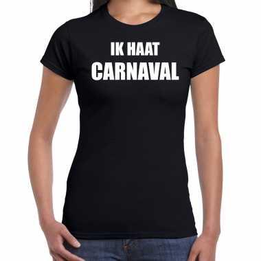 Ik haat carnaval verkleed t shirt / carnavalskleding zwart dames2020