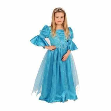 Luxe blauw prinses carnavalskleding meisjes2020