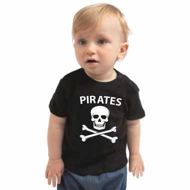 Piraten carnavalskleding shirt zwart babys2020