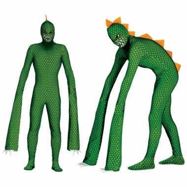 Reptielen monster carnavalskleding mannen2020