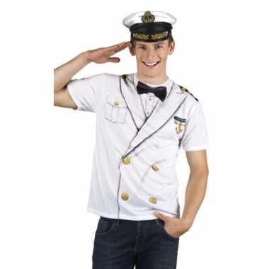 Shirt kapiteinscarnavalskleding opdruk heren2020