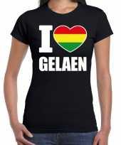 Carnaval i love gelaen t shirt zwart dames