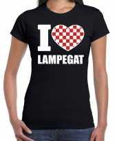 Carnaval i love lampegat t shirt zwart dames