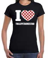 Carnaval i love tullepetaonestad t shirt zwart dames